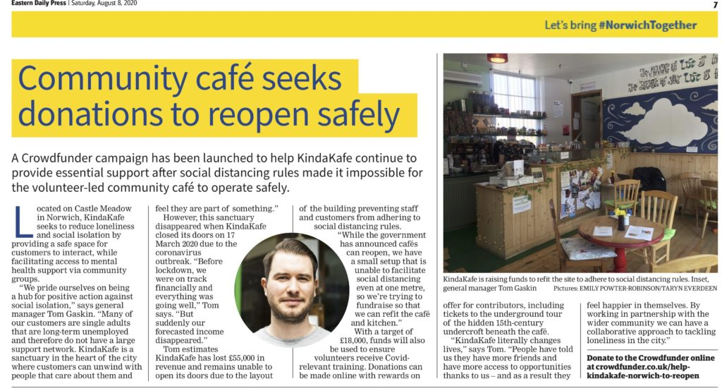 Community cafe seeks donations to reopen safely